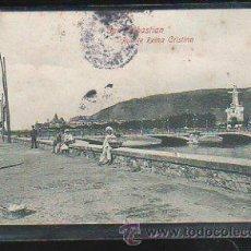 Postales: TARJ. POSTAL DE SAN SEBASTIAN - PUENTE REINA CRISTINA.. Lote 38015512