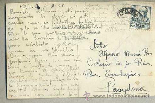 Postales: VITORIA - LA FLORIDA - CIRCULADA 1938 - Foto 2 - 38067627