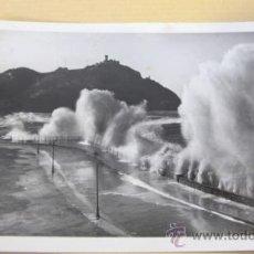 Postales: ANTIGUA POSTAL SAN SEBASTIAN -GRANDES MAREAS - FOTO GALARZA...R -1685. Lote 38173852