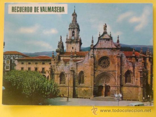 POSTAL DE VIZCAYA. AÑO 1968. VALMASEDA, IGLESIA DE SAN SEVERINO. 824. (Postales - España - País Vasco Moderna (desde 1940))