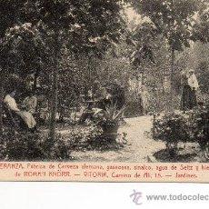 Postales: VITORIA. FABRICA DE CERVEZA KNORR. JARDINES. Lote 38478733