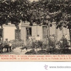 Postales: VITORIA. FABRICA DE CERVEZA KNORR. FACHADA FABRICA. Lote 38478745