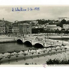 Postales: POSTAL ESCRITA 1929 - SAN SEBASTIAN / GIPUZKOA / PUENTE SANTA CATALINA - GALARZA 102 - TREN. Lote 38602011