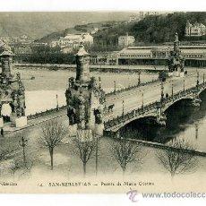 Postales: POSTAL NUEVA (SELLO TIENDA REV) - SAN SEBASTIAN / GIPUZKOA - PTE Mª CRISTINA - LATIEULE 14 - TREN . Lote 38603033