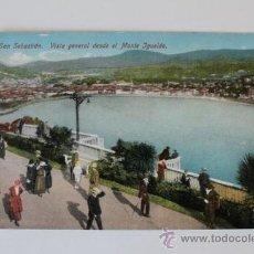 Postales: POSTAL. SAN SEBASTIÁN. VISTA GENERAL DESDE EL MONTE IGUELDO. ED. MAYOR HERMANOS.. Lote 38695643