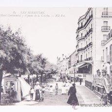 Postales: POSTAL DE SAN SEBASTIAN Nº 83, HOTEL CONTINENTAL FOTOGRAFIA EN BLANCO Y NEGRO. Lote 38738129