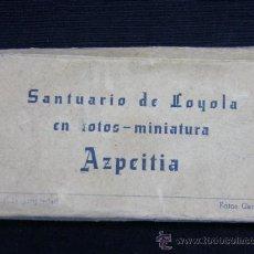 Postales: SANTUARIO DE LOYOLA EN FOTOS MINIATURA AZPEITIA FOTOS GARCÍA RECUERDOS JUAN ECHEZARRETA. Lote 38767341