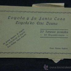 Postales: 20 TARJETAS POSTALES LOYOLA Y SU SANTA CASA ED. VICENTE GUIBERT EN SEPIA. Lote 38988715