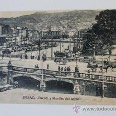 Postales: POSTAL. BILBAO. PUENTE Y MUELLES DEL ARENAL. L. G.. Lote 38864789