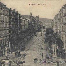 Postales: BILBAO (VIZCAYA).- GRAN VÍA. Lote 38950905