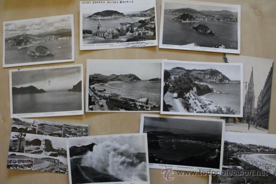 LOTE DE 12 POSTALES ANTIGUAS DE SAN SEBASTIÁN. (Postales - España - País Vasco Moderna (desde 1940))