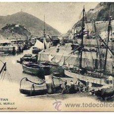 Postales: SAN SEBASTIAN. EL MUELLE. Lote 39037576