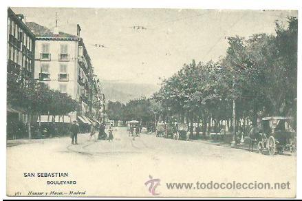 SAN SEBASTIÁN. BOULEVARD. (Postales - España - Pais Vasco Antigua (hasta 1939))
