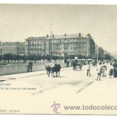 Postales: SAN SEBASTIAN. PUENTE DE SANTA CATALINA.. Lote 39069051