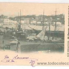 Postales: SAN SEBASTIAN EL PUERTO. ED. VIUDA DE LABORDE. FOTOGRAFIA HERNANDEZ REVERSO SIN DIVDIIR. Lote 39278867