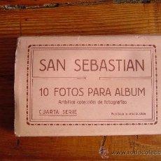 Postales: ACORDEÓN DE FOTOS SAN SEBASTIAN.. Lote 39112986