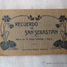 Postales: ALBUMDE 24 POSTALES ANTIGUAS DE SAN SEBASTIAN. Lote 39230884