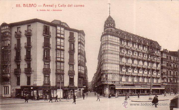 POSTAL ANTIGUA DE BILBAO Nº 85 ARENAL Y CALLE DEL CORREO... L. ROISIN (Postales - España - País Vasco Moderna (desde 1940))