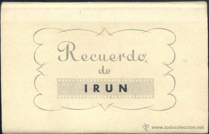 RECUERDO DE IRÚN (GUIPUZCOA).- 10 POSTALES EN ACORDEÓN (Postales - España - País Vasco Moderna (desde 1940))