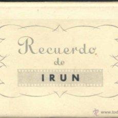 Postales: RECUERDO DE IRÚN (GUIPUZCOA).- 10 POSTALES EN ACORDEÓN. Lote 39658989