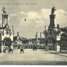 Postales: SAN SEBASTIÁN. PUENTE DE MARÍA CRISTINA. CIRCULADA. Lote 39760483