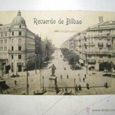 Postales: RECUERDO DE BILBAO - POSTAL CON MINI ALBUM DE VISTAS. Lote 39850434