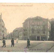 Postales: VITORIA PLAZA DEL GENERAL LOMA Y CALLE SAN ANTONIO. FOTOTIPIA THOMAS. SIN CIRCULAR. Lote 39927132