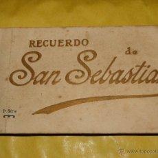 Postales: 20 POSTALES RECUERDO DE SAN SEBASTIAN. Lote 39941317