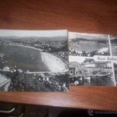 Postales: SAN SEBASTIAN - LOTE DE DOS POSTALES. Lote 39962012