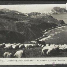 Postales: ZARAUZ - 9 - CARRETERA Y RATON DE GUETARIA - FOTO GAR - (18009). Lote 40045219