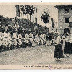 Postales: PAIS VASCO. DANZAS VASCAS.. Lote 40167231
