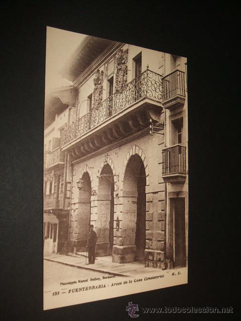 FUENTERRABIA GUIPUZCOA ARCOS DE LA CASA CONSISTORIAL (Postales - España - Pais Vasco Antigua (hasta 1939))