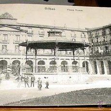 Postales: ANTIGUA POSTAL BILBAO - PLAZA NUEVA - CIRCULADA .. Lote 39518648