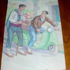 Cartes Postales: ANTIGUA POSTAL DE JOSE ARRUE - TIPOS VASCOS - EDITORIAL VASCO AMERICANA - ESCRITA. Lote 39523090