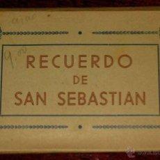Postales: CUADERNILLO DE 10 POSTALES - VISTAS DE SAN SEBASTIAN - FOTO GALARZA.. Lote 39549171