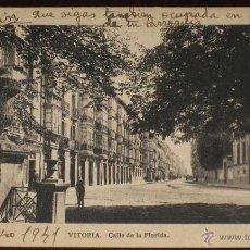Postales: ANTIGUA FOTO POSTAL DE VITORIA - CALLE DE LA FLORIDA - CIRCULADA - ED. M. ARRIBAS.. Lote 39550743