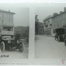 Postales: ANTIGUA FOTOGRAFIA ESTEREOSCOPICA DE CRISTAL DE HENDAYA, ADUANAS 1914 - MIDE 12,8 X 6 CMS. OLD GLASS. Lote 39587406