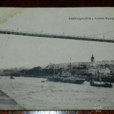 Postales: ANTIGUAPOSTAL DE PORTUGALETE, VIZCAYA, PUENTE VIZCAYA, ED. L.G. BILBAO, NO CIRCULADA.. Lote 39611249