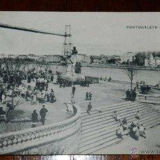 Postales: ANTIGUAPOSTAL DE PORTUGALETE, VIZCAYA, LA PLAZA Y PUENTE VIZCAYA, ED. L.G. BILBAO, NO CIRCULADA.. Lote 39611250