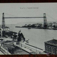 Postales: ANTIGUAPOSTAL DE PORTUGALETE, PUENTE VIZCAYA, ED. L.G. BILBAO, NO CIRCULADA.. Lote 39611253
