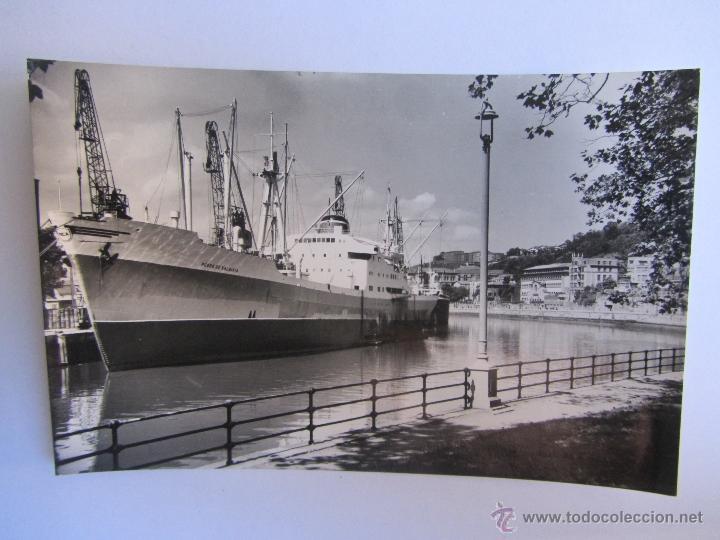 POSTAL DE BILBAO. MUELLE DE URIBITARTE. ED. SICILIA. CIRCULADA (Postales - España - País Vasco Moderna (desde 1940))