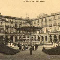 Postales: POSTAL ANTIGUA-BILBAO-LA PLAZA NUEVA. Lote 40358093
