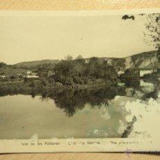 Postales: POSTAL ANTIGUA DE BEHOBIA. 1955. ISLA DE LOS FAISANES. Lote 40427759