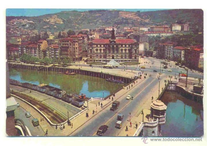 BILBAO - AYUNTAMIENTO Y PUENTE DEL GENERAL MOLA - DP 1958 (Postales - España - País Vasco Moderna (desde 1940))