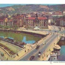 Postales: BILBAO - AYUNTAMIENTO Y PUENTE DEL GENERAL MOLA - DP 1958 . Lote 40619698