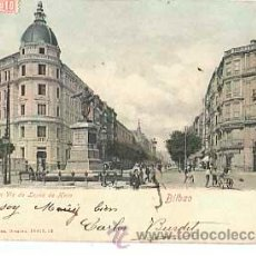 Postales: BILBAO GRAN VIA LOPEZ DE HARO. ROMMLER & JONAS. REVERSO SIN DIVIDIR. CIRCULADA. Lote 40620990