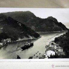 Postales: FOTOGRAFIA ANTIGUA, FOTO POSTAL, CANAL DEL PUERTO DE PASAJES, 14 X 8 CM, GALARZA. Lote 40861459