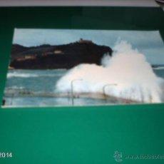 Postales: POSTAL DE TEMPORAL EN SAN SEBASTIÁN. AÑOS 70. Lote 40976766