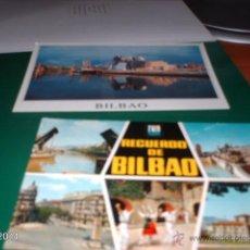 Postales: DOS POSTALES DE BILBAO. AÑOS 80 Y 2000 (GUGGENHEIM). Lote 40976952