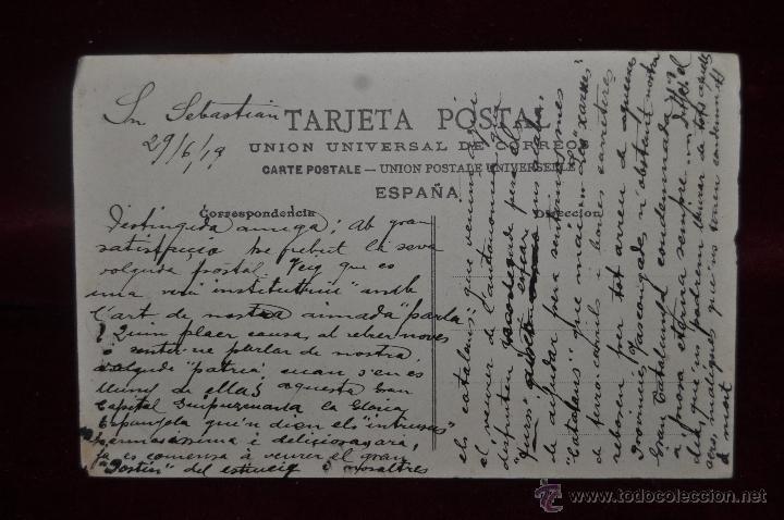 Postales: ANTIGUA POSTAL DE SAN SEBASTIÁN. VISTA DE PLAYA. ESCRITA Y SIN CIRCULAR - Foto 2 - 41000874